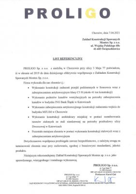 List referencyjny PROLIGO